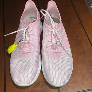 Brand new light pink adidas cloud foam sneakers